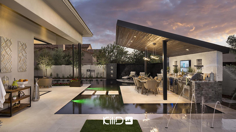 طراحی فضای حیاط خانه